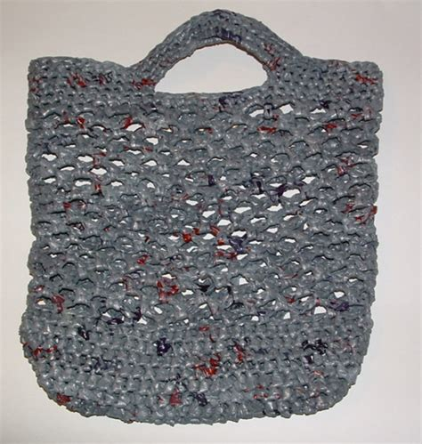 free crochet pattern net bag recycled plarn net market bag my recycled bags com