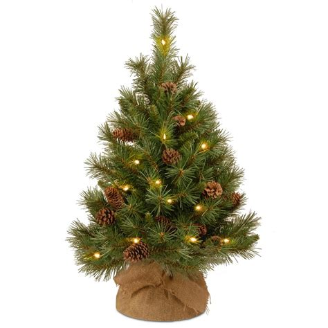 18 inch battery lit christmas tree national tree company 36 in pine cone tree with battery operated warm white led lights pc3 3bp
