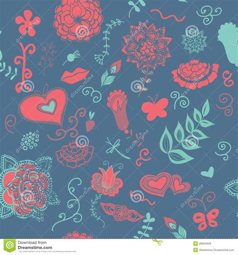 pattern cute blue cute blue flowers pattern royalty free stock images