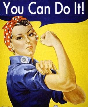 Rosie The Riveter Meme - self doubt vs self belief you can do it lorn pearson