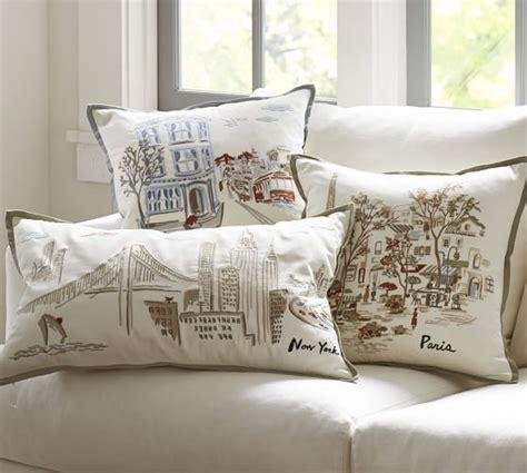 pillow san francisco san francisco embroidered pillow cover pottery barn