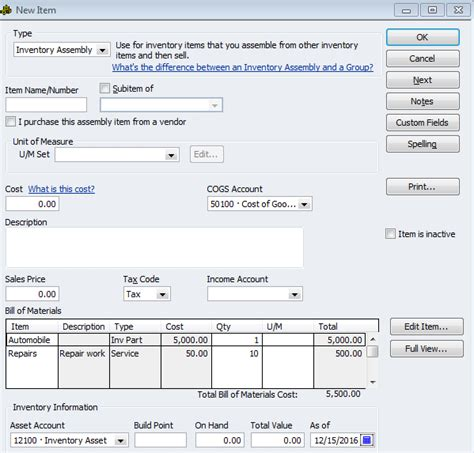 quickbooks tutorial on inventory how to include the cost of car repairs in inventory in