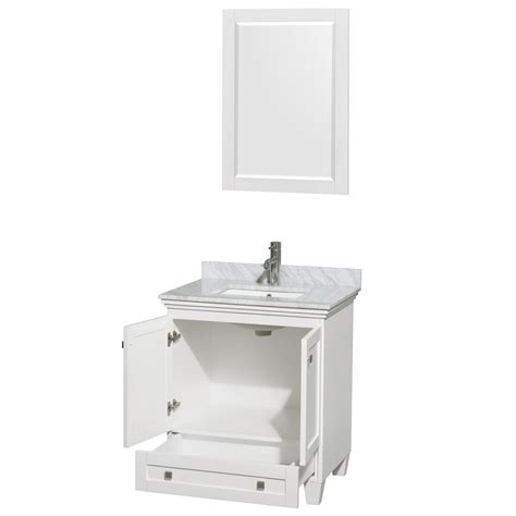 30 inch single sink bathroom vanity acclaim 30 inch single bathroom vanity in white white
