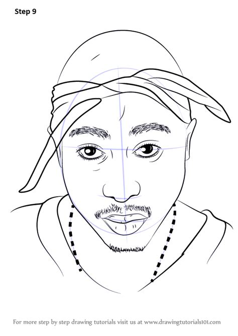 Drawing 2pac by Learn How To Draw 2pac Rappers Step By Step Drawing