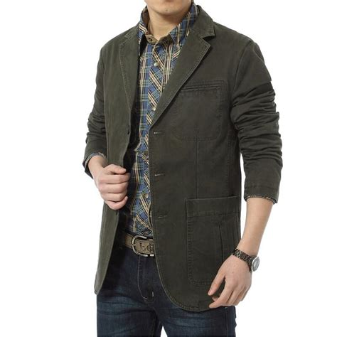 Blazer Casual 2015 Blazer Brand Casual Blazers Cotton Denim Parka