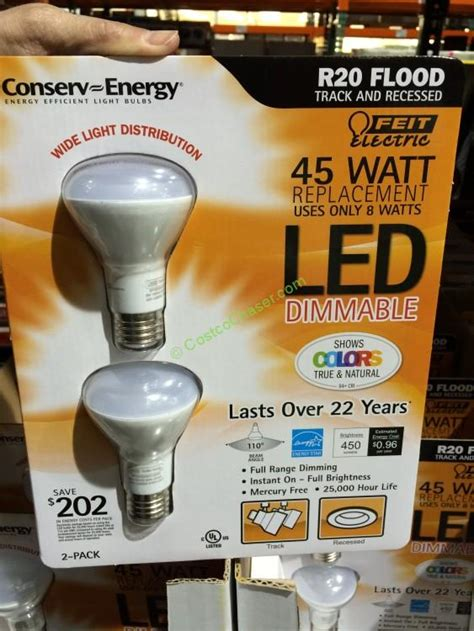 costco led light bulbs feit energy led bulb at costco costcochaser