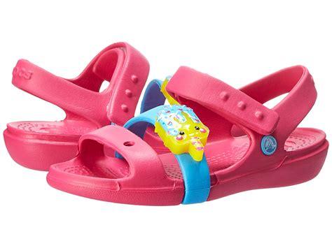 Crocs Led crocs keeley led sandal toddler kid pink bluebell zappos free