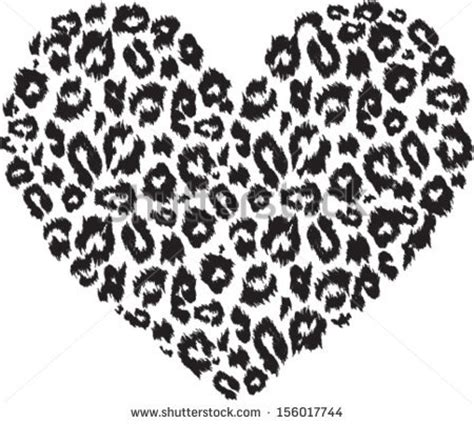 leopard print texture pattern by happycer4027 black and white heart with leopard print texture pattern