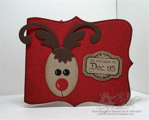 reindeer gift card holder chic n scratch - Reindeer Gift Card Holder