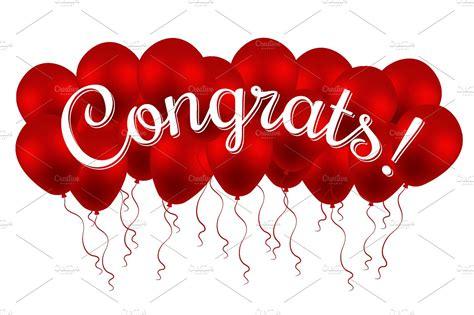 Wedding Congratulations Balloons by Congrats Congratulation Balloons Graphics Creative