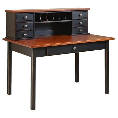 Boyers Furniture by Boyer Ave Desk Table With Hutch Solid Hardwood Amish