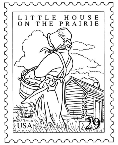 Coloring Pages Little House On The Prairie | bluebonkers famous books st coloring pages little