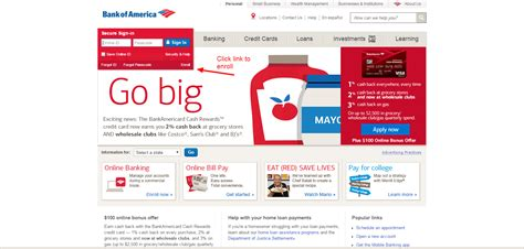 banco america bank of america banking login cc bank