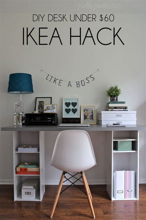 diy ikea hacks 20 cool and budget ikea desk hacks hative