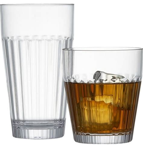 acrylic barware arlo acrylic glasses traditional outdoor drinkware