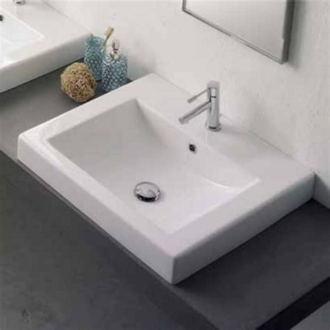 nameeks square 8025 a built in bathroom sink in white