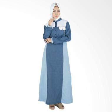 Gamis Busana Muslim Wanita Inf 047 jual raindoz rgs 047 balqis baju muslim wanita blue sky