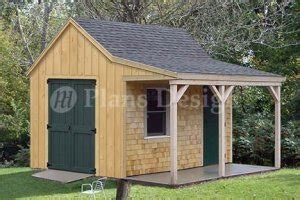 Shed Plans With Porch by 12 X 12 Cottage Shed With Porch Project Plans Design 81212