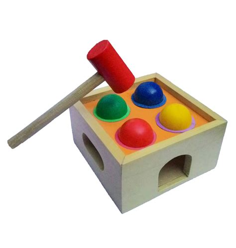 Mainan Anak Palu Bola Kayu palu ketok bola mainan kayu