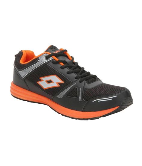 buy sports shoes india buy lotto hurry black and orange running sports shoes