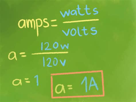 how to convert watts to amps with unit converter wikihow