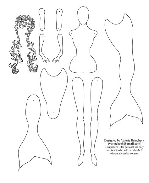mermaid templates mermaid coloring page aquatails