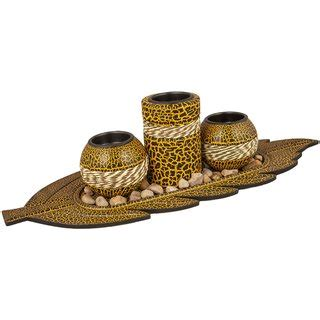 3 Candle Stand by 3 Pc Wooden Candle Stand In India Shopclues