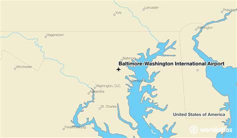 baltimore location in usa map baltimore washington international airport bwi worldatlas