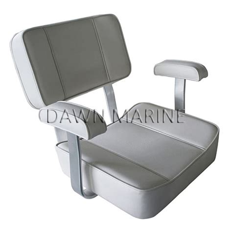 white boat captains chair captain s chair with arm rests dawn marine
