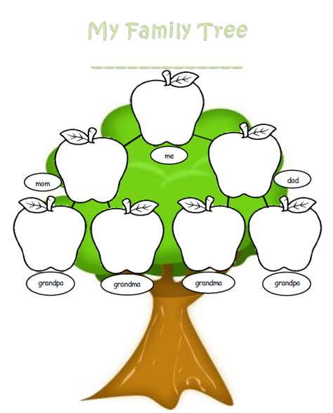 family tree template for kids search results calendar 2015