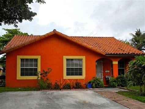 Orange Exterior Paint   Home Design
