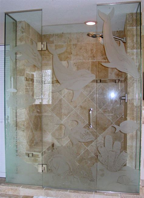showers etched shower glass etched glass etched glass design by premier etched glass