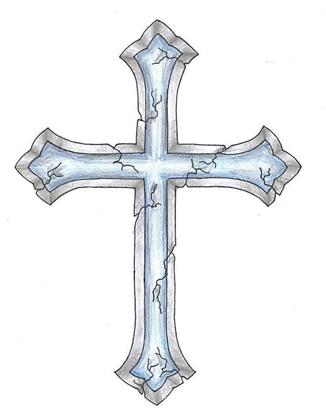 cross ribbon tattoo designs cracked cross design want a different cross with