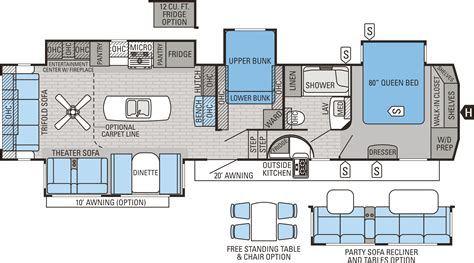 5th wheel rv floor plans jayco eagle 355 mbqs fifth wheel floor plan cing