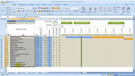 Two Point Outline Exle by Outline Taks Items For The Construction Schedule In Excel
