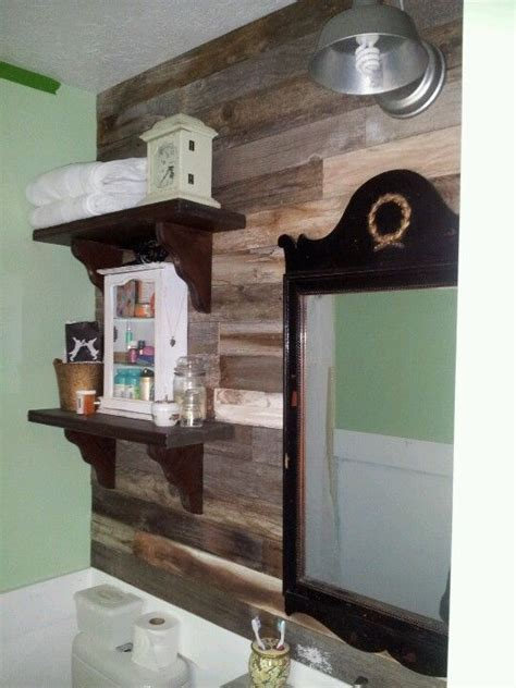Pallet Wall Bathroom Pallet Bathroom Wall Decorating Ideas Pinterest Colors Bathroom Wall And Pallet Bathroom