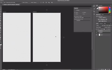 photoshop guide layout artboard transparency transparent artboard backgrounds in