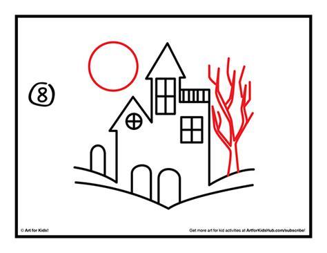 step 7 how to draw a haunted house easy scary tree drawing 61054 bursary