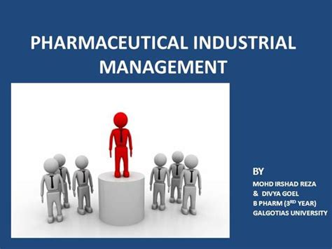 Executive Mba In Pharmaceutical Management by Pharmaceutical Industrial Management Authorstream