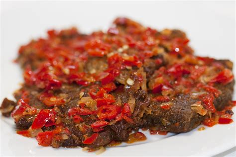 Hummer Balado dendeng balado spicy dried beef vero at home