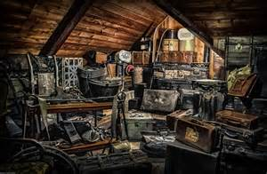 awesome attic filled with tons of antique stuff