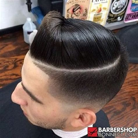 shaved part barber shop pinterest combover fade with shaved part perfect male hair