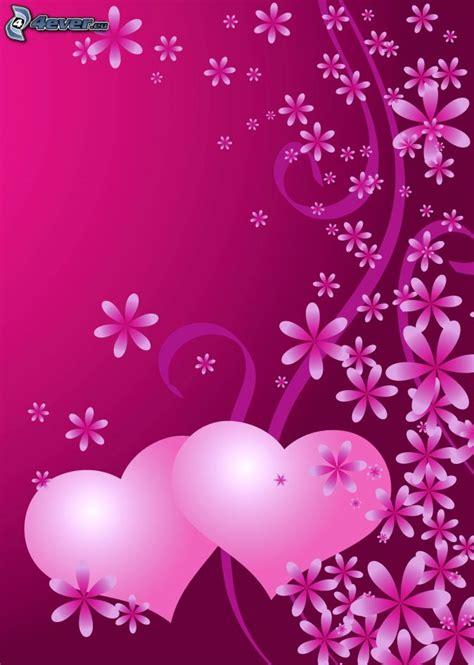 de corazones rosas y rojos sobre un fondo blanco imagenes sin corazones