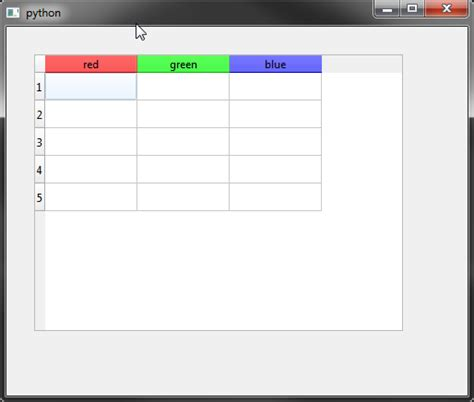 qt layout color color individual horizontal headers of qtablewidget in