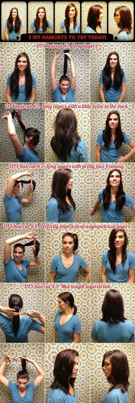 how to cut myself meduimshag at home 5 diy haircuts to try today click for instructions from