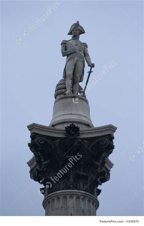 statue  admiral nelson trafalgar square stock photo