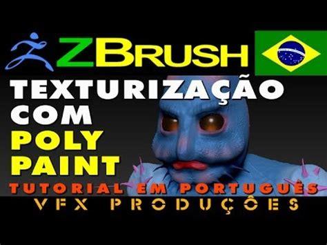 tutorial zbrush em portugues tutorial zbrush portugues texturiza 231 227 o com polypainting