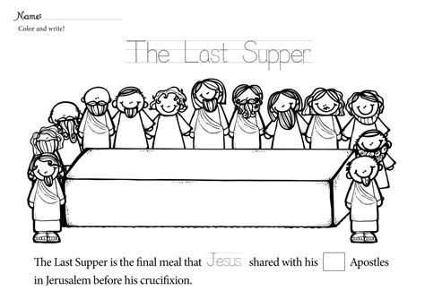 coloring page last supper free lent last supper coloring pages