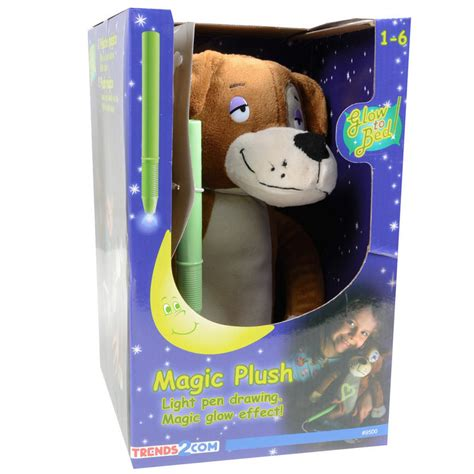 magic glow doodle light pen glow to bed plush puppy with magic glow effect tummy ages 1 6