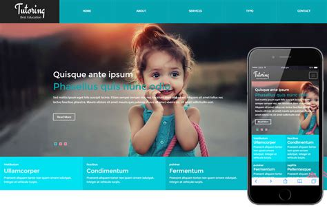 bootstrap templates for school website tutoring a educational category flat bootstrap responsive